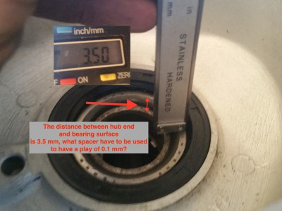Hub bearing end float